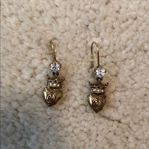 Juicy Couture Gold Heart Dangle Earrings
